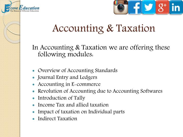 Accounting & Taxation