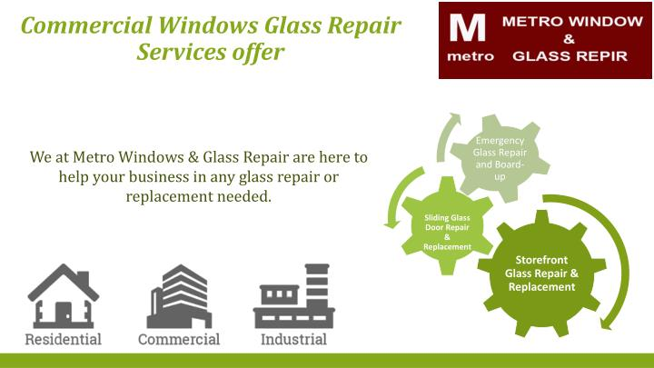 Commercial Windows Glass Repair