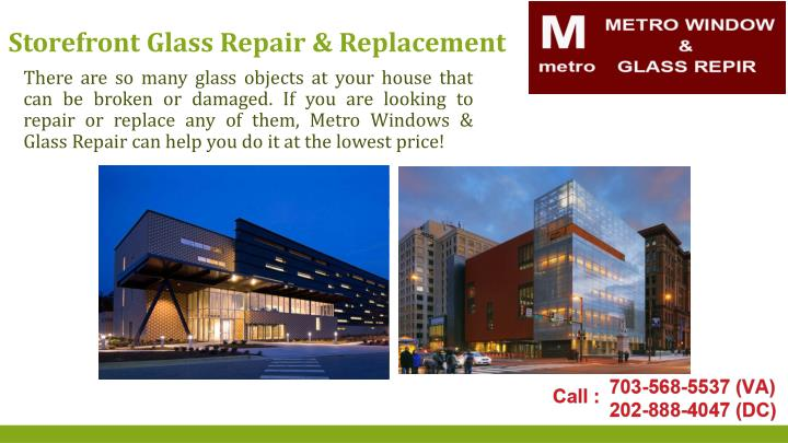 Storefront Glass Repair & Replacement
