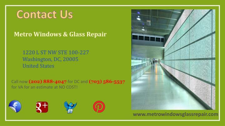 Metro Windows & Glass Repair