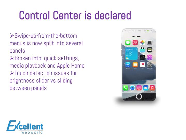 Control Center is