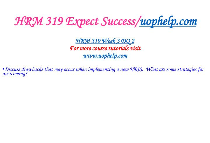 HRM 319 Expect Success/