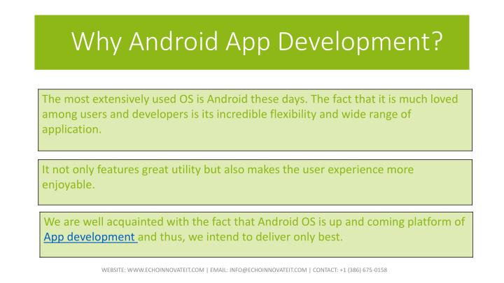 Why Android App Development?