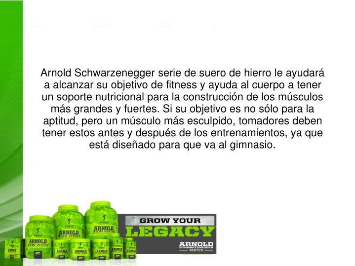 Arnold Schwarzenegger serie de suero de hierro le ayudará a alcanzar su objetivo de fitness y ayuda al cuerpo a tener un soporte nutricional para la construcción de los músculos más grandes y fuertes. Si su objetivo es no sólo para la aptitud, pero un músculo más esculpido, tomadores deben tener estos antes y después de los entrenamientos, ya que está diseñado para que va al gimnasio.