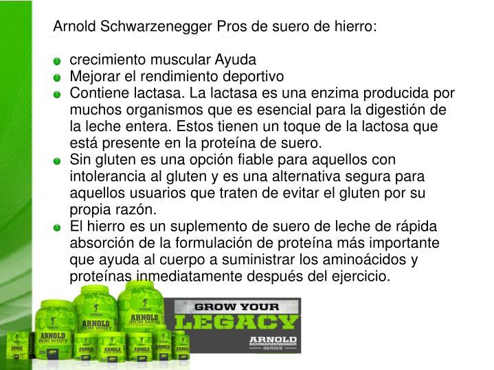 Arnold Schwarzenegger Pros de suero de hierro: