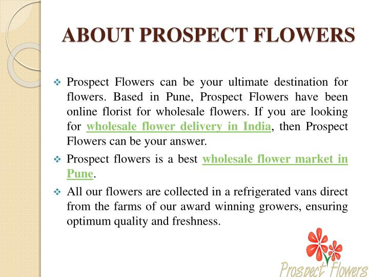 ABOUT PROSPECT FLOWERS