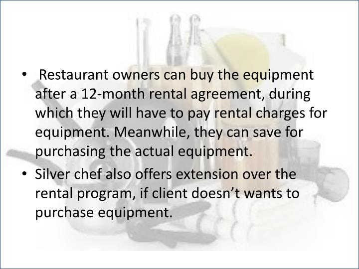 Restaurant owners can