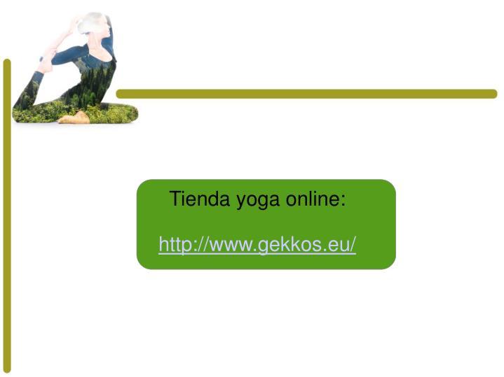 Tienda yoga online: