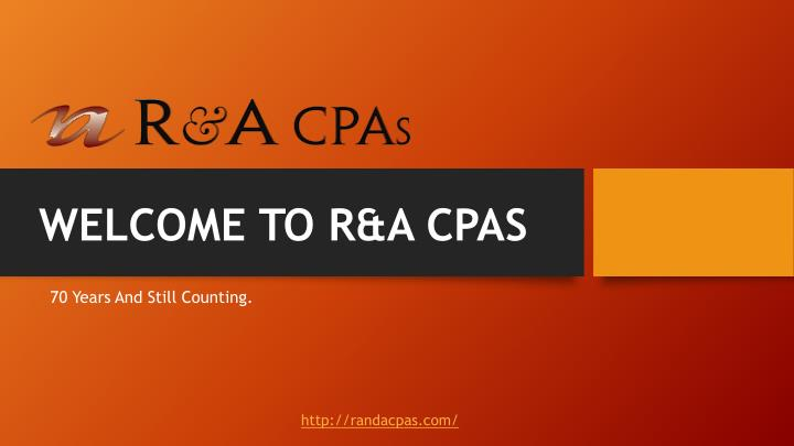 welcome to r a cpas
