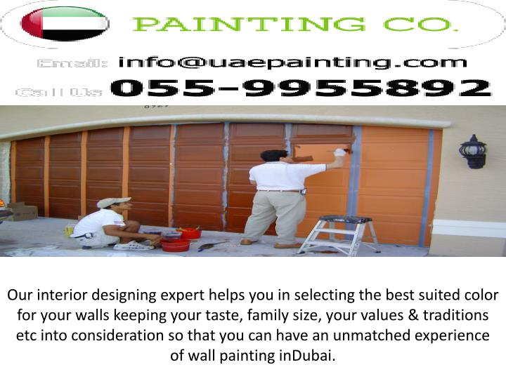Our interior designing expert helps you in selecting the best suited color for your walls keeping your taste, family size, your values & traditions etc into consideration so that you can have an unmatched experience of