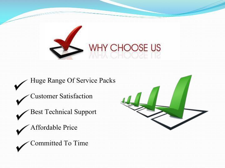 Huge Range Of Service Packs