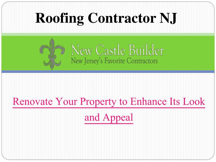 Roofing contractor nj