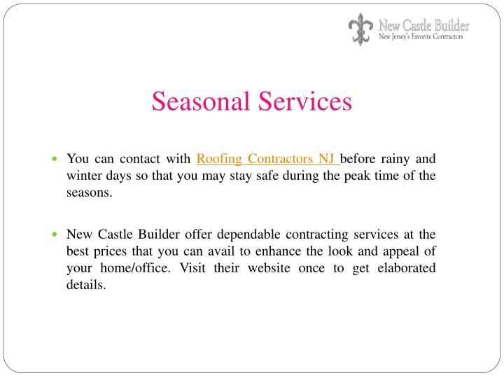 Seasonal Services
