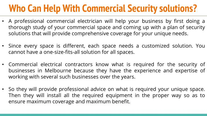 Who Can Help With Commercial Security solutions?