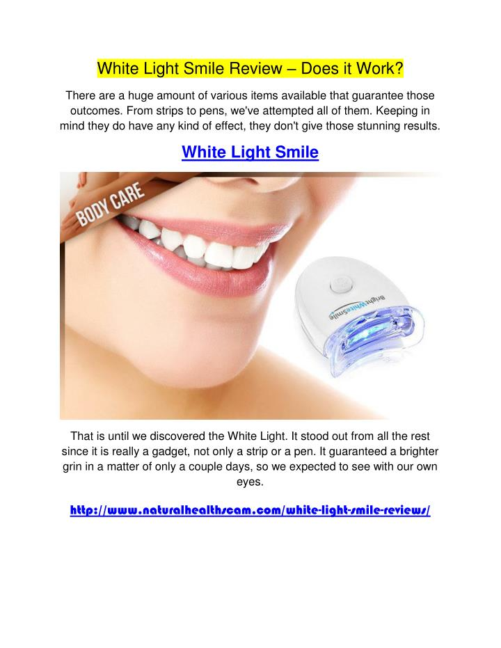 White Light Smile Review
