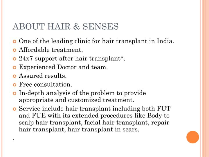 About hair senses