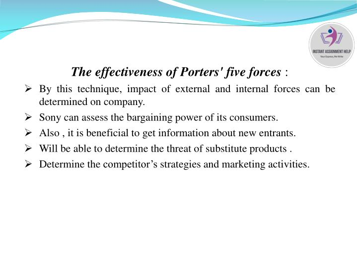 The effectiveness of Porters' five forces