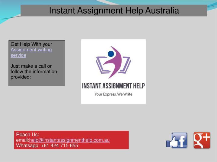 Instant Assignment Help Australia