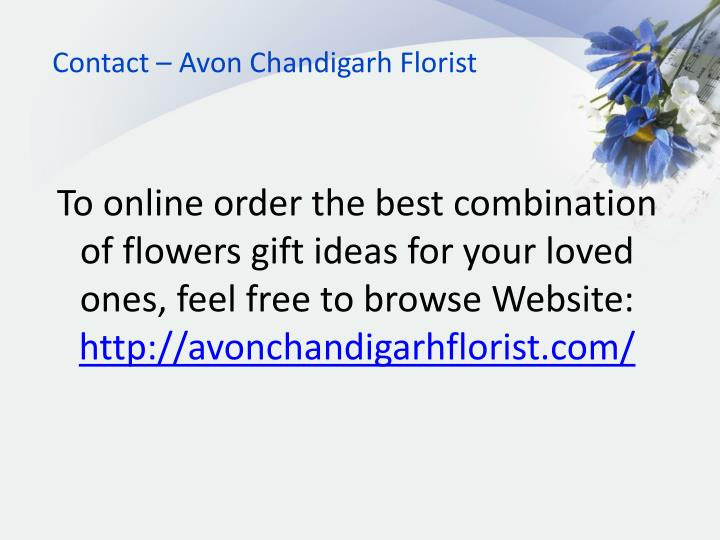 Contact – Avon Chandigarh Florist