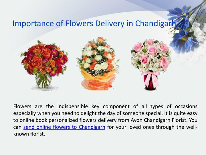 Importance of Flowers Delivery in Chandigarh