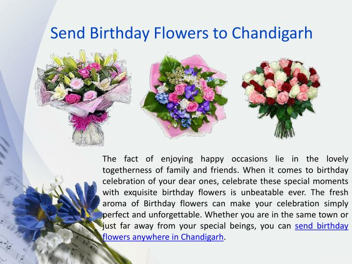 Send Birthday Flowers to Chandigarh