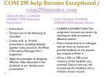 com 295 help become exceptional com295mentor com8