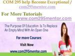 com 295 help become exceptional com295mentor com9