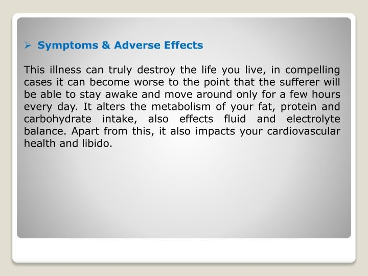 Symptoms & Adverse Effects
