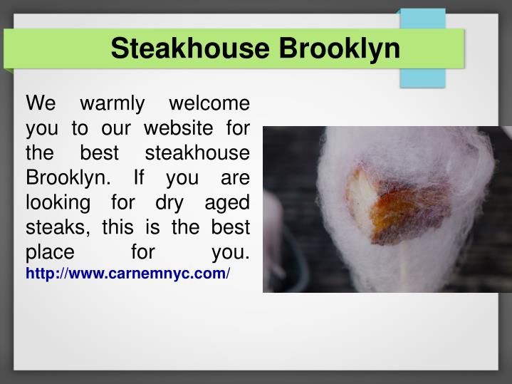 Steakhouse Brooklyn
