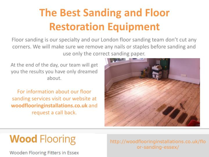 The Best Sanding and Floor Restoration Equipment