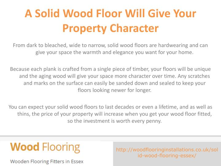 A Solid Wood Floor Will Give Your Property Character