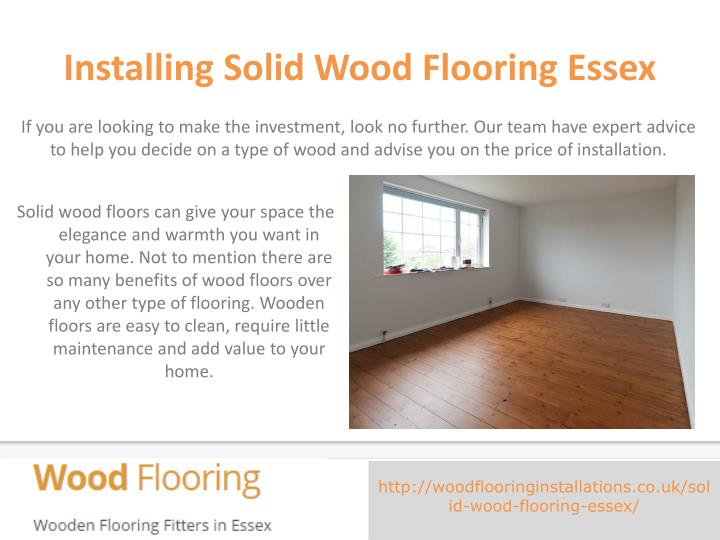 Installing Solid Wood Flooring Essex