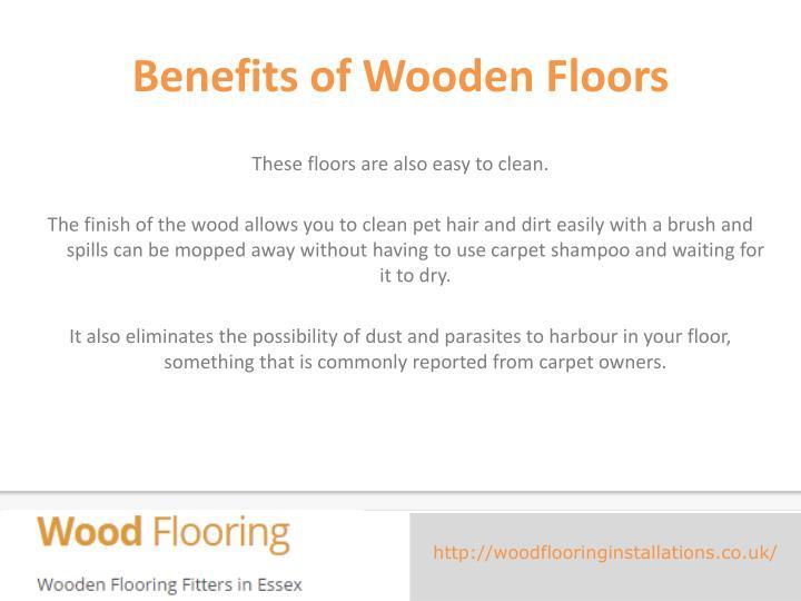 Benefits ofWooden Floors
