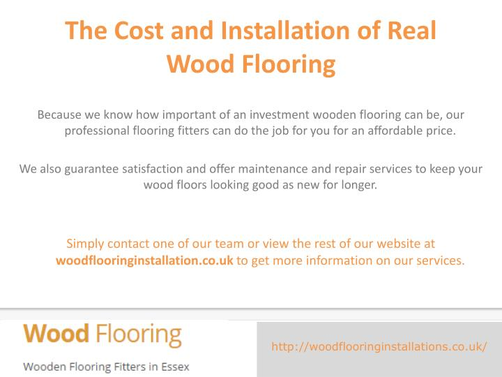 The Cost and Installation of Real Wood Flooring