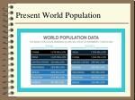 present world population