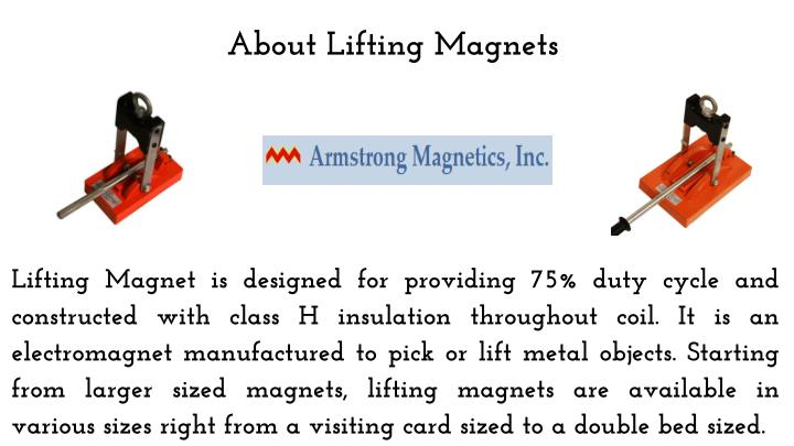 About lifting magnets