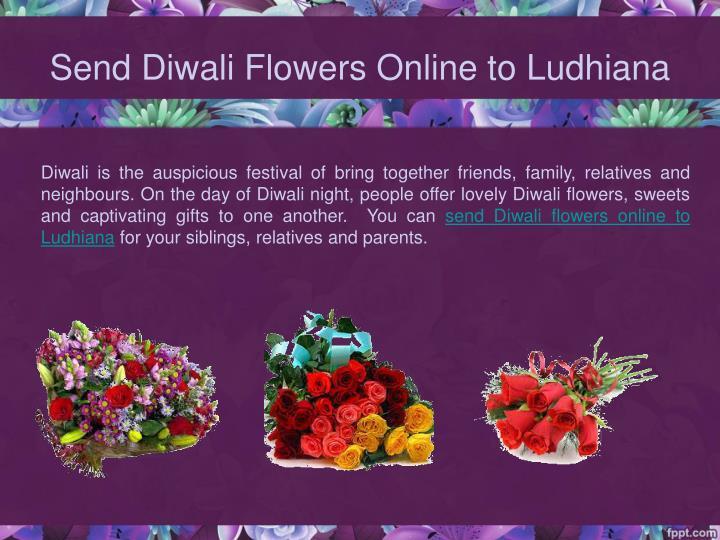 Send Diwali Flowers Online to Ludhiana
