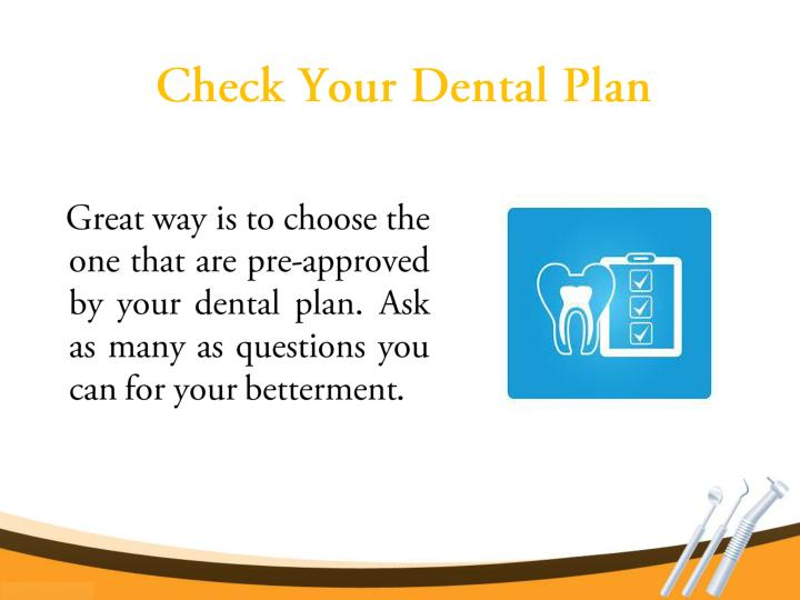 Check Your Dental Plan