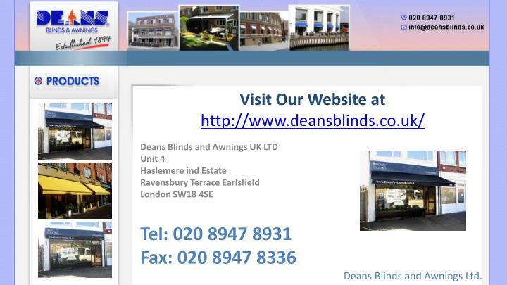 Visit Our Website at