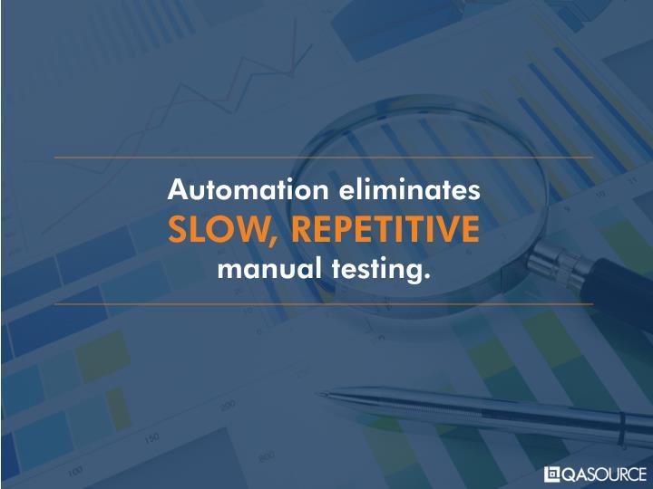 Automation eliminates