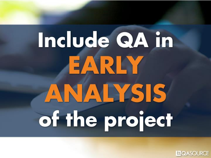 Include QA in