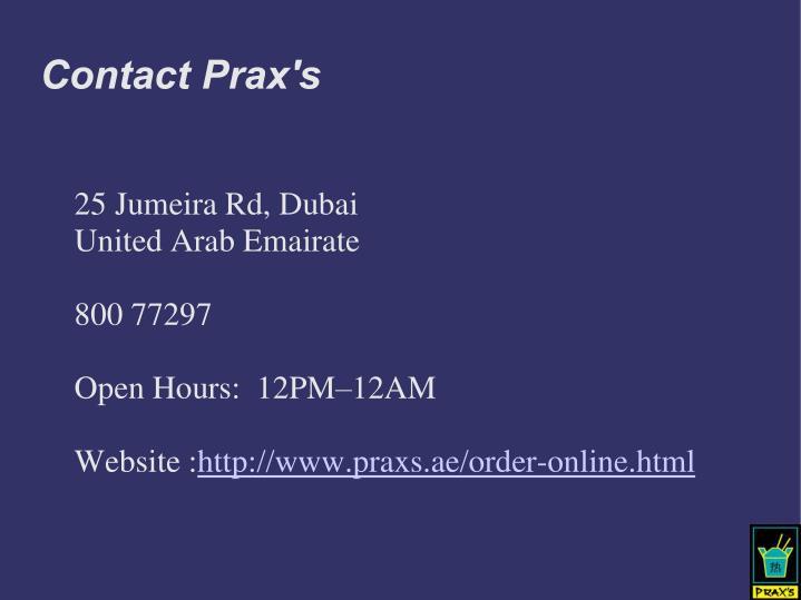 Contact Prax's