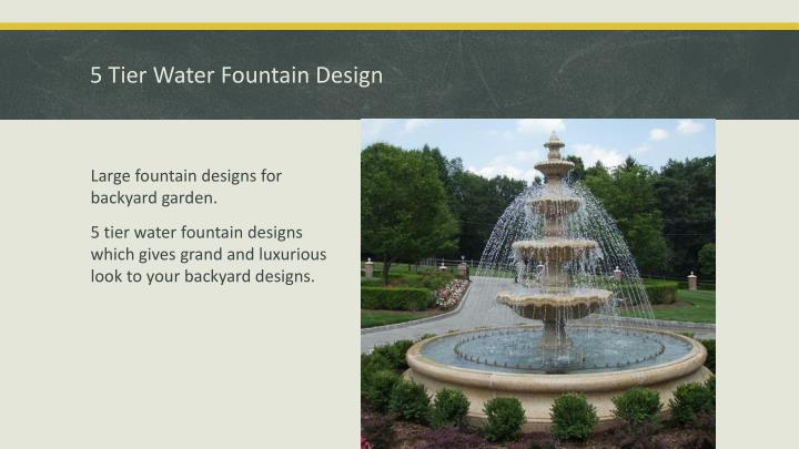 5 Tier Water Fountain