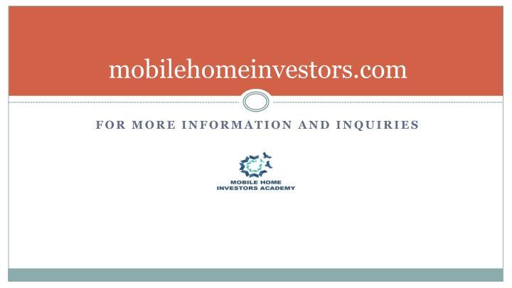 mobilehomeinvestors.com