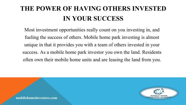 The Power of Having Others Invested in Your