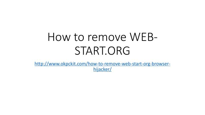 How to remove web start org