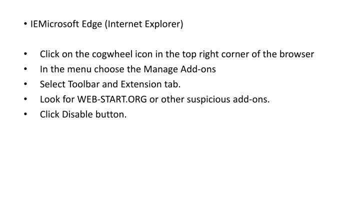 IEMicrosoft Edge (Internet Explorer)