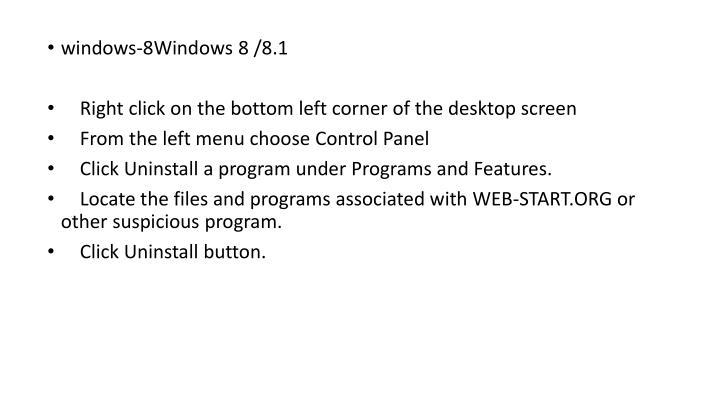 windows-8Windows 8 /8.1