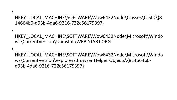 HKEY_LOCAL_MACHINE\SOFTWARE\Wow6432Node\Classes\CLSID\{814664b0-d93b-4da6-9216-722c56179397}
