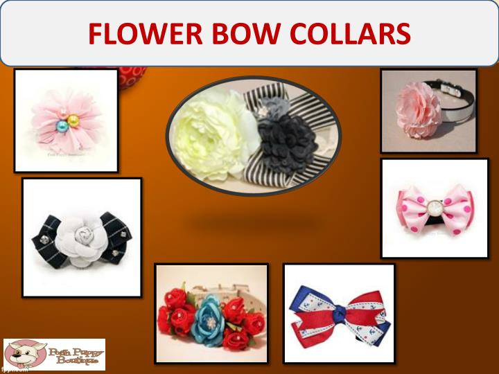 FLOWER BOW COLLARS